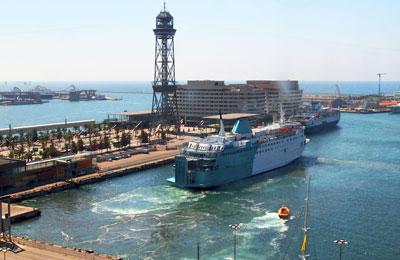 Los puertos de ferry