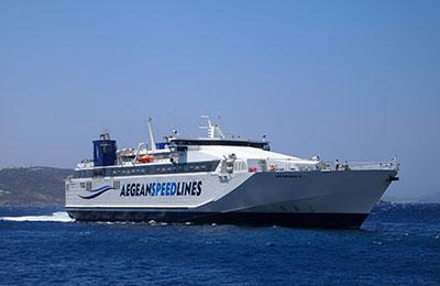 Líneas de la velocidad del Egeo